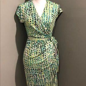 NWT Maggy London Jersey Knit Wrap Dress Sz 12
